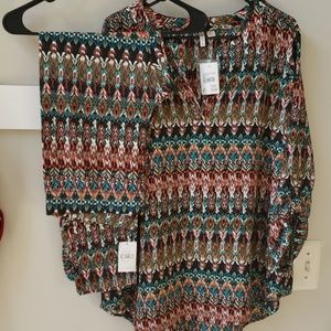 Women Long sleeve shirt/pant outfit (Set)